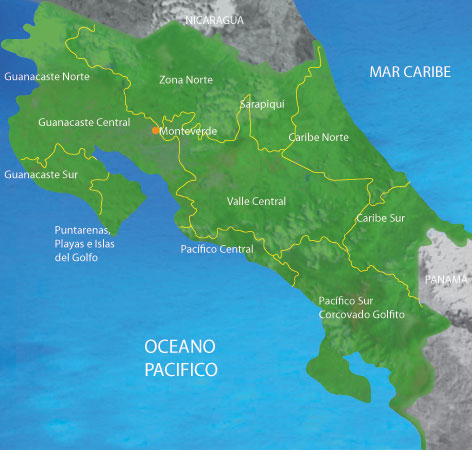 Mapa Costa Rica